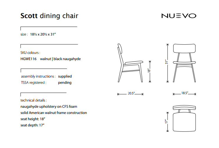 Nuevo Living Scott Dining Room Chair