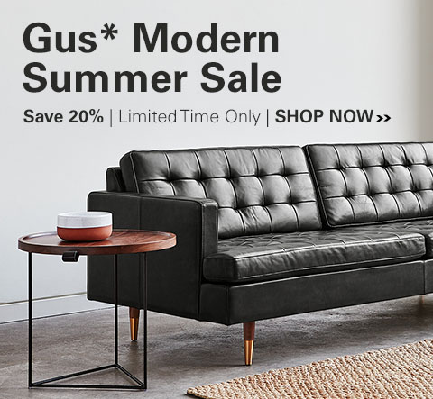 Gus Modern Sale - Save 20% for a limited time on Gus Modern Sofas, Sectionals, Accent Chairs, Ottomans & Beds