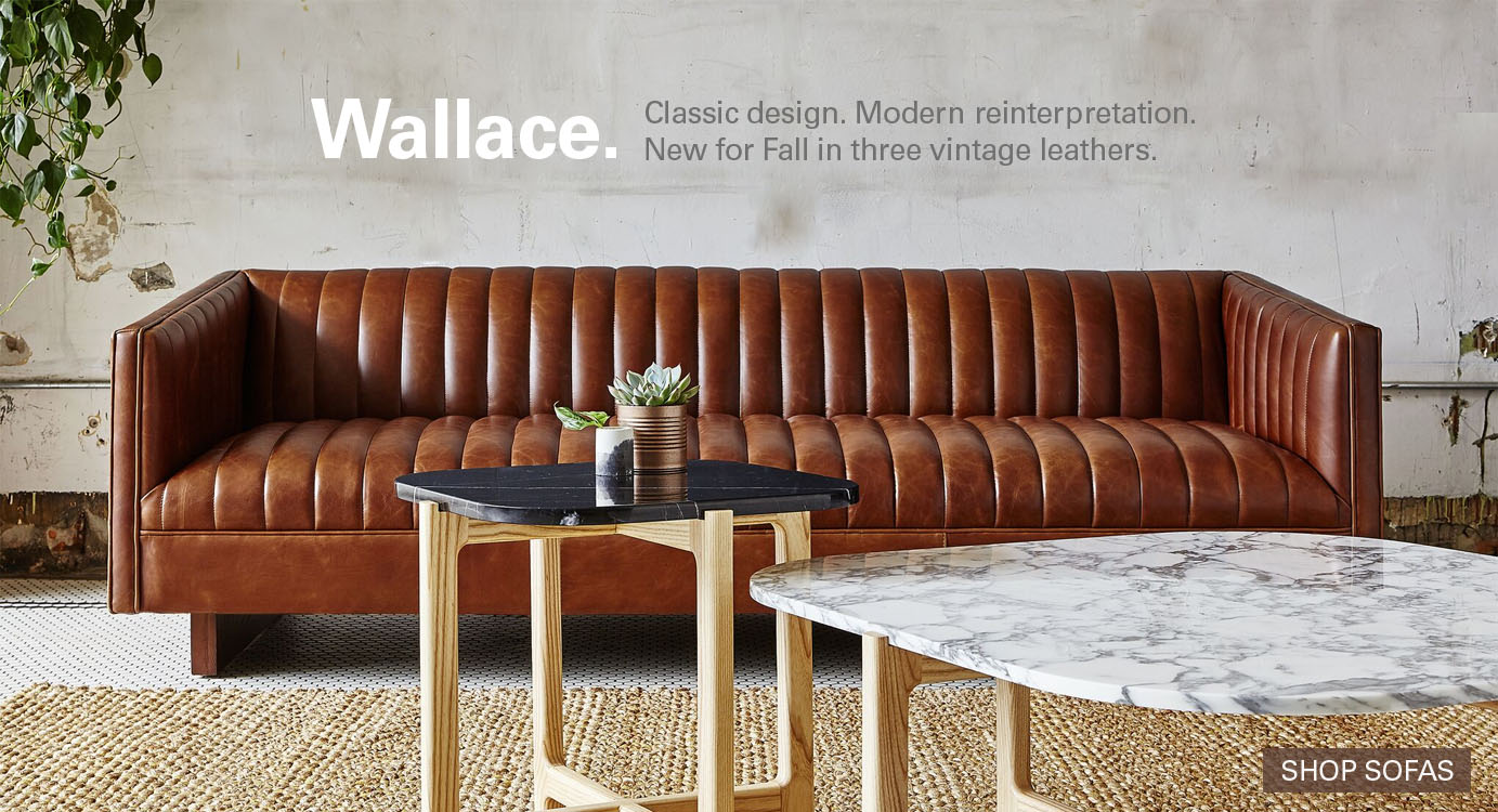 Wallace sofa by gus modern classic design