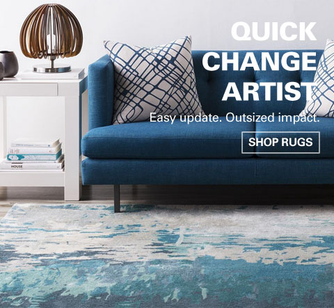 Easy update. Outsized impact.  Shop modern rugs from Modern Essentials.